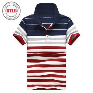 HTLB новый мужчин Бизнес-верховая Ralphmen рубашки лето роскошь воздухопроницаемый Камиза masculina мужской полосатой рубашке