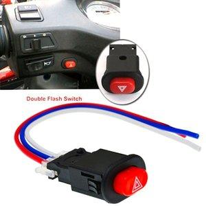 1 adet Motosiklet Tehlike Işık Anahtarı Çift Uyarı Flaşör Acil Sinyal 3 Teller Kilidi ile