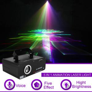 450mW 5 1 RGB 3D 네트워크 레이저 프로그램 소스 13 채널 DMX 프로젝터 라이트 DJ 쇼 KTV 스캐너 Ligh Stage Lighting Effect 504RGB