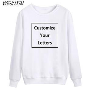 VAGROVSY misura DIY felpe unisex tuo Design testo Photo Print Cotton Pullover Pullover da uomo di alta qualità Donne