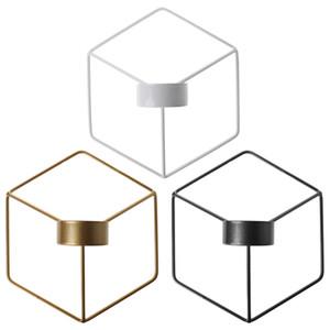 Holder geometrica Candeliere di candela parete in metallo nordico stile 3D Sconce Home Decor
