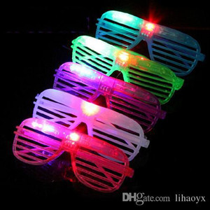 LED Light Glasses Fashion Flashing Shutters Shape Glasses Festive Party Holloween Christmas Costume Glasses M049