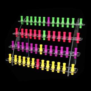 Acrylique ecig display stand clair support étagère exposition base vape rack boîte pour vapeur batterie mini cigarette électronique ego 510 goutte à goutte pointe DHL