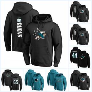 88 Brent Burns San Jose Sharks Hoodie Jersey 19 Joe Thornton 35 Couture 65 Karlsson Erik Blank Black Blue Beige grüne Hockey Hoodoes