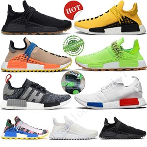 Entrega rápida! Nerd branco preto raça Canvas Pharrell Williams Humano Hu Mens Running Shoes NMD R1 Arrefecer Trainers Grey Womens Outdoor Sneakers