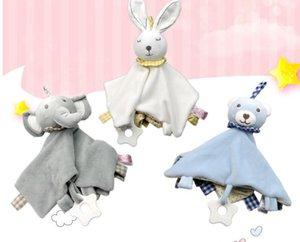 morso 4 stili 30 * 30cm del bambino lenitivo asciugamani adesivo asciugamani Bambole Newborn peluche lenitiva gioca il regalo dei capretti