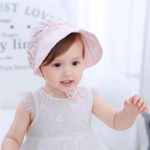 2020 Mode Bébé Chapeau Enfants Bébé Maille évider Cap douce dentelle Toque bébé Princesse Hat pour Cadeaux Accessoires