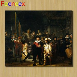"""40X30cm Great Painter Rembrandt """"The Night Watch"""" 5D DIY Diamond Painting Full Square Diamond Embroidery Sale Rhinestone Picture"""