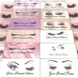 Private Label gratuit Vison Cils 3D Mink Lashes Maquillage Faux Cils naturel fait à la main naturelle complète Volume Lashes 3D Vison série E Cils