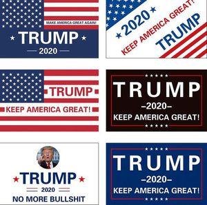 Keep America Grand drapeau 90 * 150cm 3x5FT Président Donald Trump 2020 Drapeau Donald pour la bannière Président USA KKA7858N
