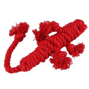 Köpek Pet Oyuncak Puppies Diş Temizleme Cotton kertenkele şekil Halat Molars Pet Oyuncak For Dogs Kediler Dayanıklı Topu Diş Bite düğüm Chew