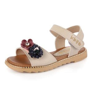 Fashion Flowers 2020 Summer Shoe For Girls Dress 3 4 5 6 7 8 9 10 11 12 Kid Beach Sandal For Children Princess Sandals Size 37