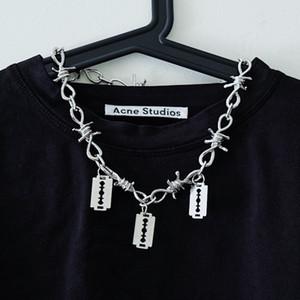 Punk femmes verrouillage collier chaîne / hommes Collier gothique collier tour de cou goth collier pendentif Padlock 2019 emo bijoux à la mode de la mode
