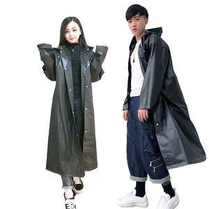 Impermeable Hombres Mujeres Black Rain ropa cubre cubierta impermeable ropa impermeable Capa de chuva chubasquero impermeable poncho de lluvia encapuchadas