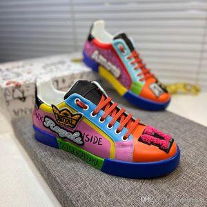 Mode Männer Neue Sportschuhe Animation Graffiti kleine weiße Schuhe klassischen Jungen Basketballturnschuhen Luxus Outdoor Kletterschuhe 38-45