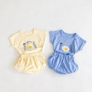 New Summer Baby Clothes Set Infant Boys Girls Pattern Tees PP Shorts 2pcs Outfits Cotton Cute Newborn Baby Infant Casual Costume