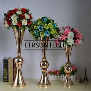 44 centímetros 54 centímetros 65 centímetros Ouro Prata Flor Andar Vaso Mariage Table Centerpiece metal vaso de flor Stands Para Casa Decoração do casamento