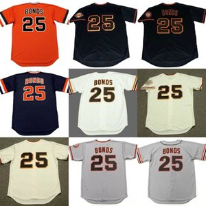 Hombres de 25 a Barry Bonds de San Francisco 19783 Baseball Jersey