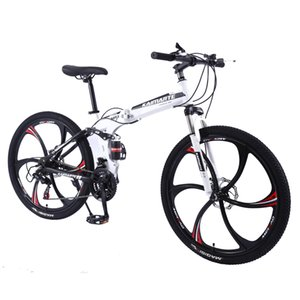 21 Speed Mountain Bike 24 26 inch carbon steel folding bike double disc brake adult bicycle 3 6 and 10 knife wheel student bike