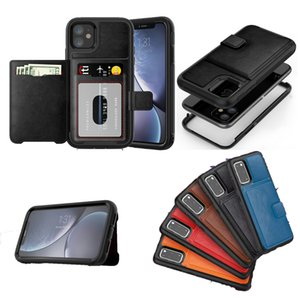 For iPhone 11 Pro MAX XS XR X 7 8 Plus samsung galaxy S20 ultra Designer Wallet Phone Case Shockproof Luxury Defender Case
