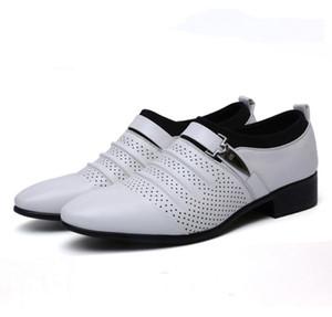 hombres de gran tamaño 38-48 de los hombres de negocios de cuero sandalias de verano al aire libre zapatos de vestir zapatos de la oficina transpirable calzado sandalias Walking