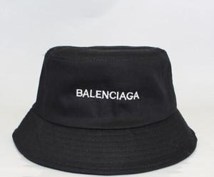 Modedesigner Brief Bucket Hut für Frauen der Männer faltbare schwarze Kappen Fisherman Beach Sun Visor breiter Krempe Hüte Damen Bowler Cap Folding