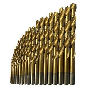 50 Pcs Titanium Coated High Speed Steel Drill Bit Set Tool 1 1.5 2 2.5 3mm