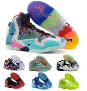 Мужские баскетбольные кроссовки обувь Синий что Lebrones 11 12 рождественских тепла игровых данных НСОТ работников образования Южного пляжа до 2020 дизайнер мужчины кроссовки обувь