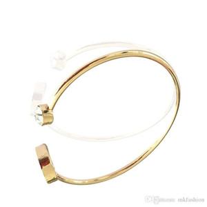 Exquisite diamond opening men's and women's bracelet three colors adjustable