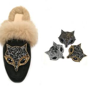 Голова лисы свадебные туфли на свадьбу аксессуары для обуви на высоких каблуках сапоги поделки ручной горный хрусталь украшения обуви цветок обуви