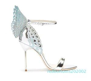 Vente-Femmes Hot Colorful Sandales papillon cheville Wrap Angel Wings Stiletto Escarpins Gladiator Sandales Parti Chaussures de mariage Femme R02