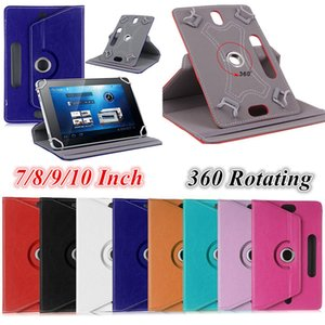 Universal 360 Rotating Camera Hole Adjustable Flip PU Leather Stand Case For 7 8 9 10 10.1 10.2 inch Tablet PC MID Samsung Tab iPad Huawei