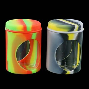 "2.7""Silicone and Oil Container DHL shipping Nonstick Silicone Jars Dabs Silicone Flower Jar Wax Containers Silicone Wax Boxes"