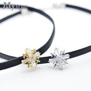 Großhandel Funkelnde Göttin Ankh Kreuz Halskette Gold / Silber Farbe Anhänger Halskette Schlüsselbein Kette Aussage Halskette Frauen Schmuck