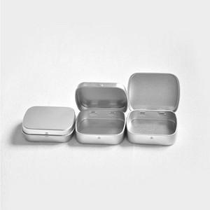 Mini Caixa De Lata Caixa De Presente Caixa De Metal De Hortelã Branco Preto Prata Retângulo Plain Caixas De Armazenamento W9293