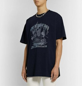 20ss Luxury Europe France Vetements Pirate Ship Embroidery Tshirt Fashion Mens Designer T Shirts Women Clothes Casual Cotton Tee