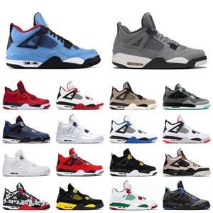 Cactus Jack 4 men women basketball shoes 4s Bred travis Black Cat Cool Grey White Cement Pale Citron mens trainer sports sneakers
