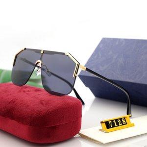 Alta Qualidade Polorized Óculos Designer óculos de sol de luxo óculos de marca para mulheres Adumbral Mens Uma lente Oceano Óculos 7 cores com Box