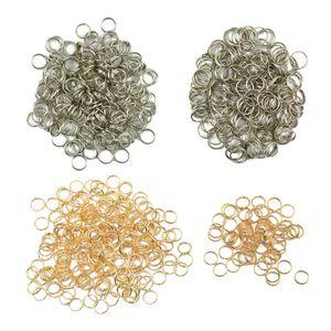 800pcs / Lot Metal Aço chave dividida Chaveiros principais descobertas Cadeia