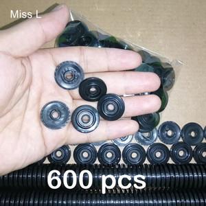 600 pcs Diameter 21 mm Aperture 4.6 mm Black Wheel Toy Vehicle Repair Part Accessories Model Gift Fun