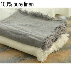 Cobertor De Linho Francês Tapete De Verão Cobertores De Roupa De Cama Frescos Lavados E Atira Tapetes Caseiros