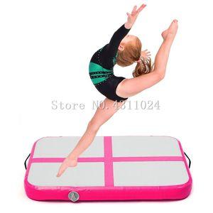 Freies Verschiffen 0,6x1x0,2 mt Aufblasbare Gymnastik AirTrack Taumeln Air Track Boden Trampoline Elektrische Luftpumpe für Den Heimgebrauch