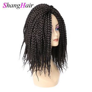 Crochet Twist Braids Hair 14 Inch Long Crochet Braids Synthetic Hair Extensions 80g pcs Full Head free shipping