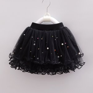 2020Girls Pettiskirt Baby Girl Skirts Toddler Infant Short Cake Skirt Pearl Children Princess Wavy Tulle Puffy Skirts Kids Tulle