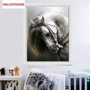 YGS-222 diy 5d الماس التطريز الحصان جولة الماس اللوحة عبر الابره فسيفساء اللوحة زخرفة المنزل