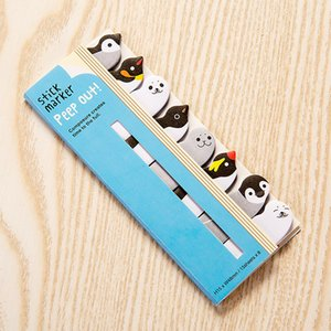 Cartoon Animals Notes Lovely Penguin Kitten Dog And Cat Paw Modeling Creative Eight Piece Memos diarios