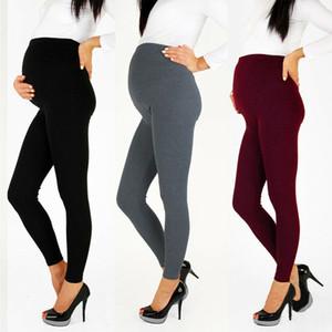 Mujeres Embarazadas Pantalones Calientes de Maternidad Elástica Pantalones Flacos de Cintura Alta Pantalones de Embarazo Moda Pantalones de Mujer de Alta Calidad