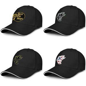 Bass Pro Shop logotipo Moda Baseball Man Sandwich Custom Hat de beisebol Único Cap Bass Pro Shop roupas cinza Camuflagem Camuflagem pesca