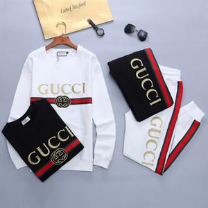 19SS 가을 럭셔리 슬림 패션 스포츠 정장을 인쇄 운동복 남성 스포츠 정장 편지를 실행하는 남자의 운동복 긴 소매 재킷