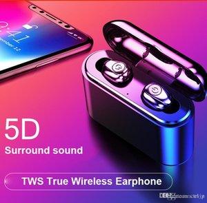 A estrenar X8S TWS Bluetooth 5.0 Wireless Auriculares Mini Sport Binaural llamada con auriculares estéreo de auriculares con la carga de la caja de micrófono para iOS Android